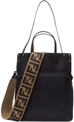 Fendi Lleather And Suede Handbag