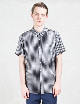 "Saturdays NYC Esquina"" Gingham S/S Shirt"