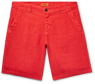Barena Linen-Blend Shorts - Men - Red