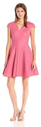 Julia Jordan Women's V Neck Cap Sleeve Fitflare Knit Dress
