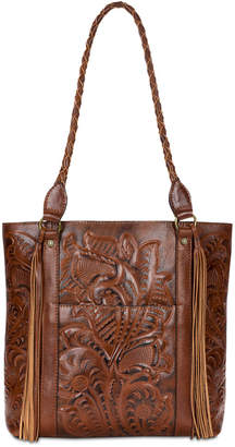 Patricia Nash Rena Burnished Tooled Leather Tote
