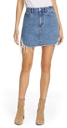 04ea508c9 Celine 3x1 NYC Distressed Denim Skirt