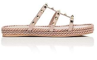 Valentino Women's Rockstud Torchon Leather Platform Sandals - Nudeflesh