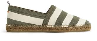 Reiss PABLO STRIPE STRIPED CANVAS ESPADRILLES Green