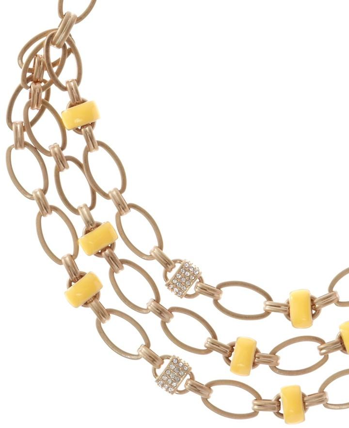 Coldwater Creek Enamel link necklace