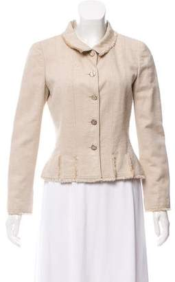Chanel Frayed Silk Blazer