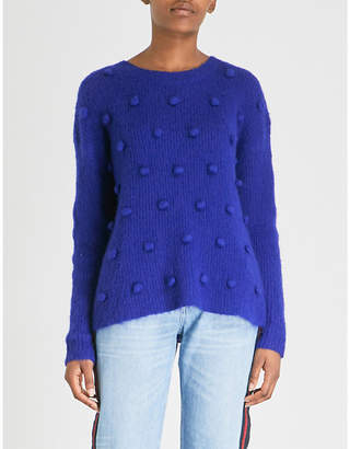 Claudie Pierlot Bobbled knitted jumper
