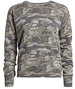 Monrow Women's Camo Raglan Sweater