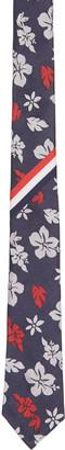 Thom Browne Navy Hibiscus Stripe Classic Tie $240 thestylecure.com