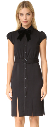 alice + olivia Carie Puff Sleeve Shirtdress $395 thestylecure.com