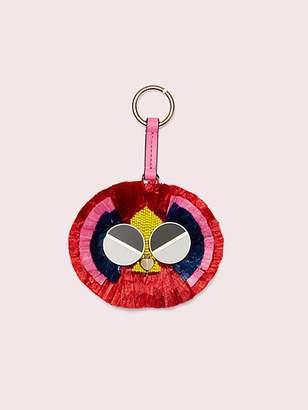 Kate Spade Spademals Raffia Preeny Peacock Dangle Keychain, Hibiscus