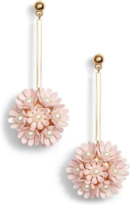 Lele Sadoughi Plumeria Drop Earrings
