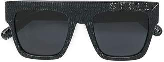 Stella McCartney Eyewear studded snake-print sunglasses
