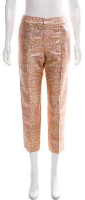 Baja East Metallic Mid-Rise Pants