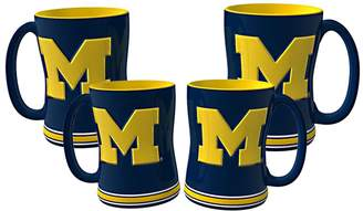 NCAA Kohl's Michigan Wolverines 4-pk. Sculpted Relief Mug