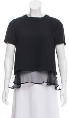 Elizabeth and James Short Sleeve Ruffled Top