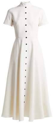 Emilia Wickstead Camila Wool Crepe Dress - Womens - Cream