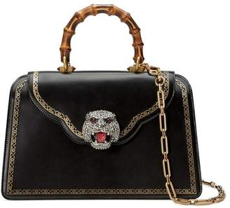 Gucci Frame print leather top handle bag
