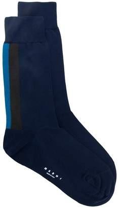 Marni intarsia stripe logo socks