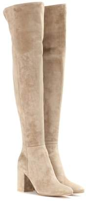 Gianvito Rossi Rolling 85 suede over-the-knee boots