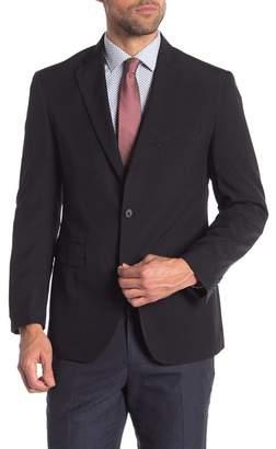 Louis Raphael Black Two Button Notch Lapel Tailored Slim Fit Blazer
