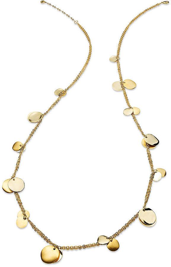 Alfani Necklace, Gold-Tone Wind Chime Long Pendant