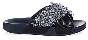 Tory Burch Women's Logan Embellished Slides Sandals