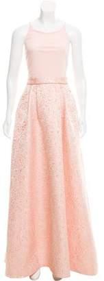 Aidan Mattox Brocade Evening Dress w/ Tags