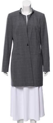 Calvin Klein Knee-Length Plaid Coat