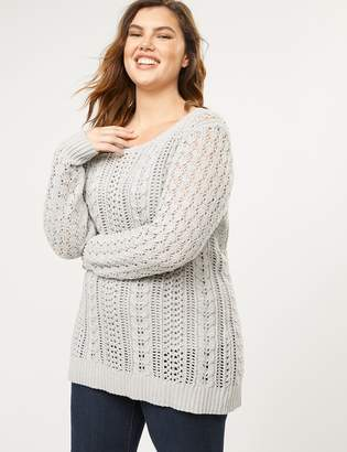 Lane Bryant Open-Knit Pullover Sweater