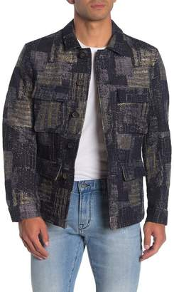 John Varvatos Collection Jacquard Easy Fit Military Jacket