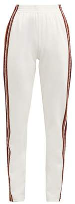 Wales Bonner Palms Crochet Stripe Track Pants - Womens - Ivory