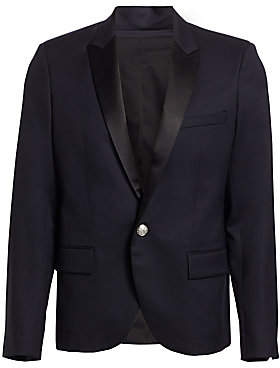 Balmain Men's Satin Button-Front Jacket