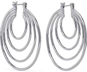 Luv Aj Silver-Tone Hoop Earrings