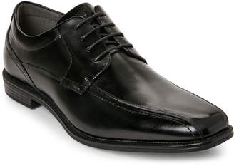 Florsheim Black Portico Bike Toe Lace-Up Shoes