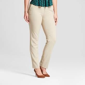 A New Day Women's Straight Leg Curvy Bi-Stretch Twill Pants Khaki 0S