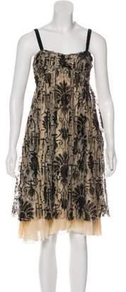 Diane von Furstenberg Sleeveless Lace Dress Tan Sleeveless Lace Dress