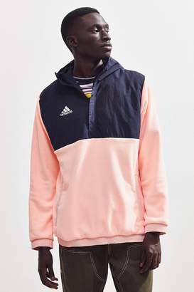 adidas Colorblock Half-Zip Fleece Hoodie Sweatshirt