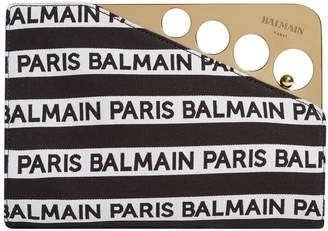 Balmain Cerniere Jacquard Logo Clutch