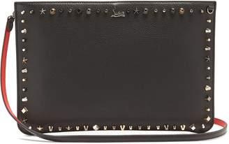 Christian Louboutin Trashmix spike-embellished leather clutch