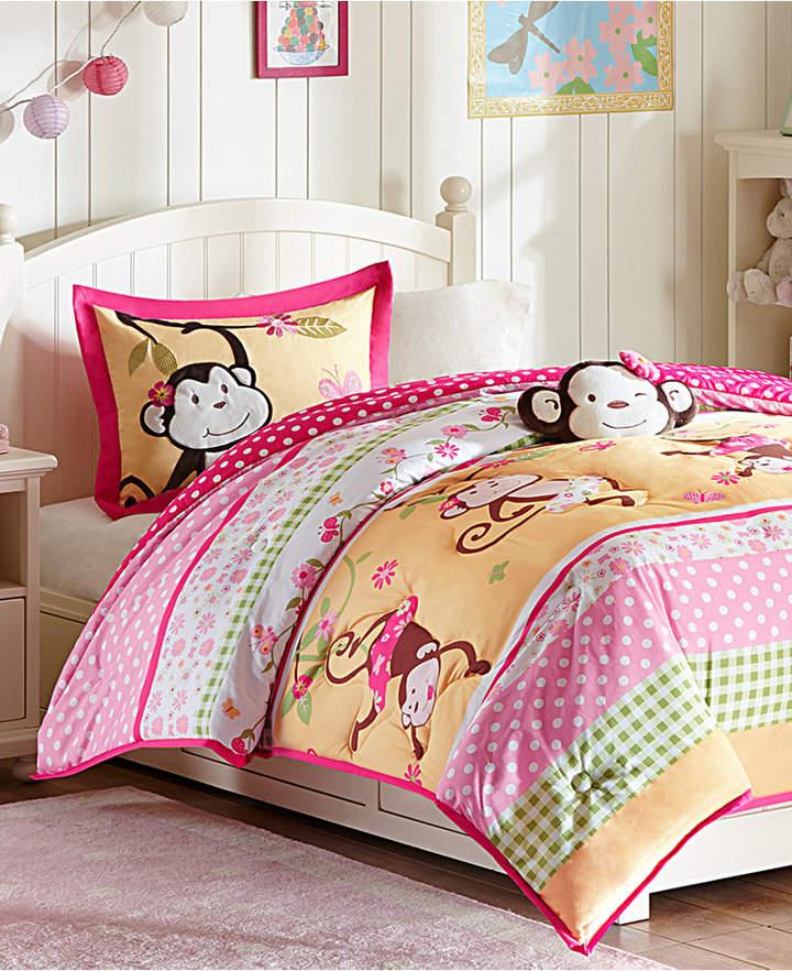 Mi Zone Kids Monkey Business 3-Pc. Reversible Twin Comforter Set Bedding