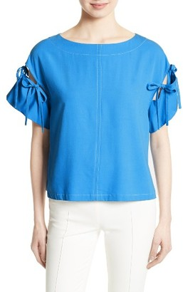 Women's Tracy Reese Tie Sleeve Top $248 thestylecure.com