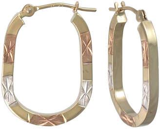 FINE JEWELRY 14K Tri-Color Gold Hoop Earrings