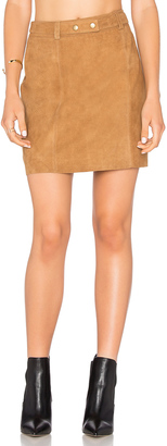 Michael Stars A Line Mini Skirt $228 thestylecure.com