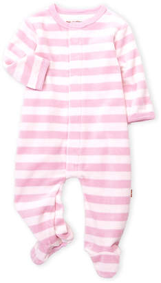 Magnificent Baby Newborn/Infant Girls) Magnetic Me Pink Stripe Velour Coveralls