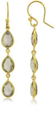 Auree Jewellery - Monaco Gold Vermeil and Green Amethyst Earrings