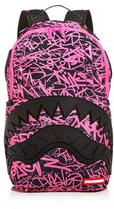 Sprayground Scribble Rubber Shark Mouth Backpack