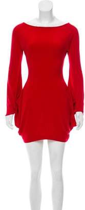 Norma Kamali Cut-Out Mini Dress