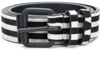 Haider Ackermann striped medium buckle belt