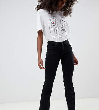 Only Petite flare jean in black